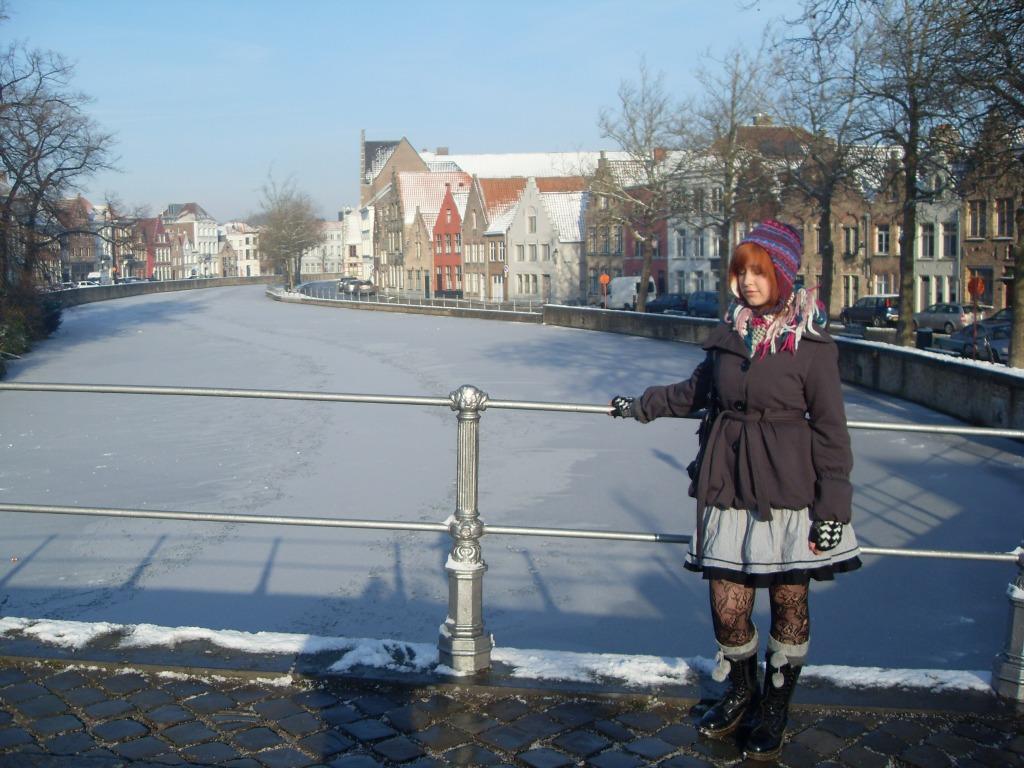 Snow in Bruges