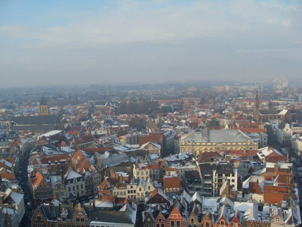 View from Bruges tower