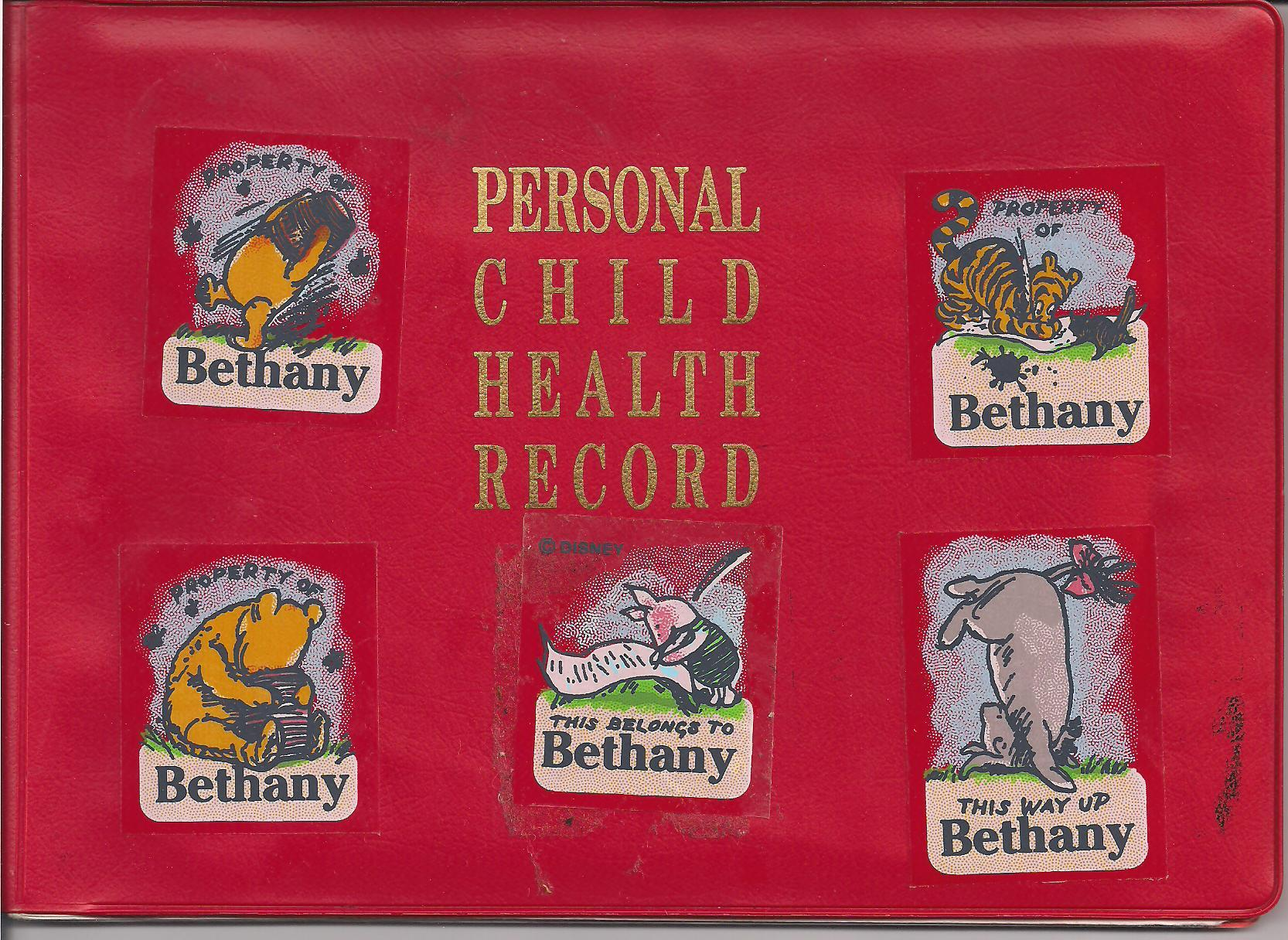 Personal child health record red book