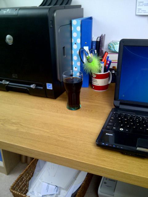 Pepsi in a coke glass