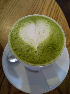 """Green tea latte"""
