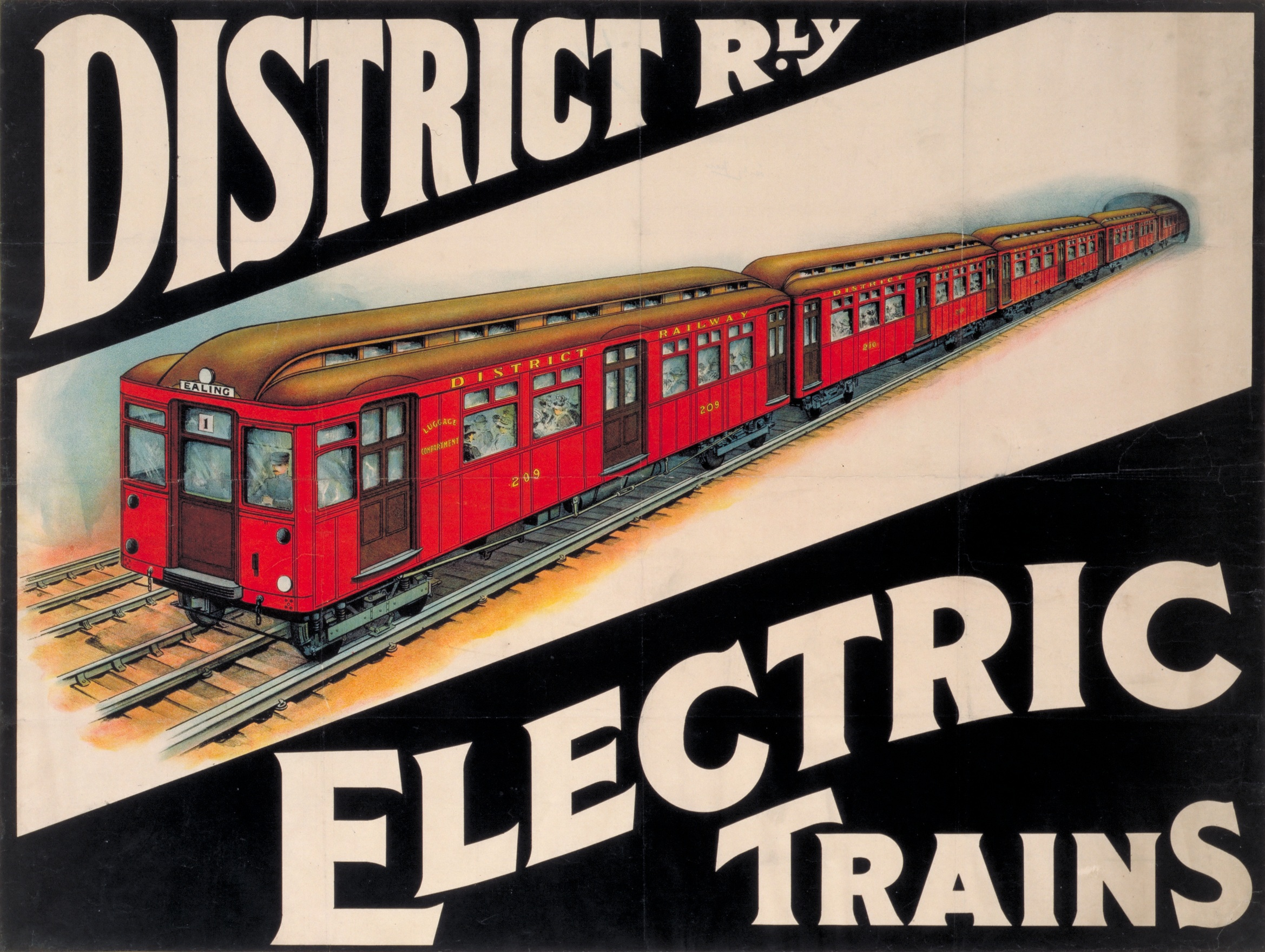"""vintage train poster"""