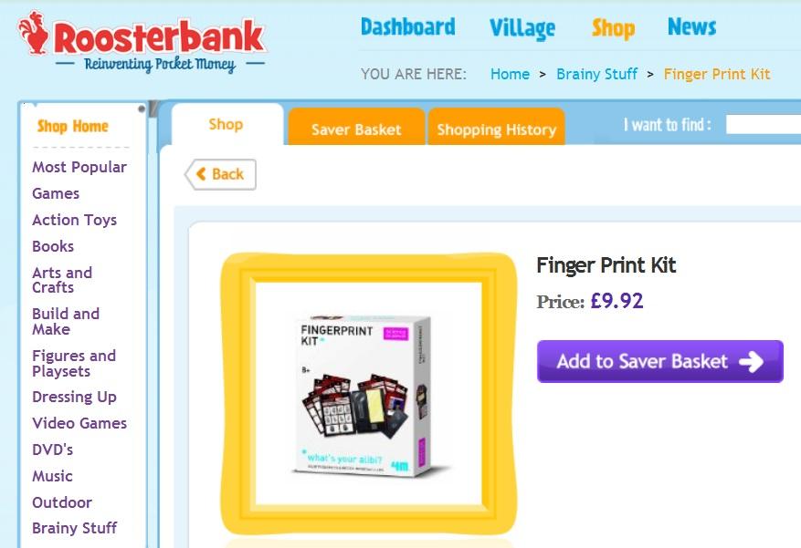 """""""finger print kit"""""""