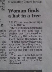 """""""hat found"""""""