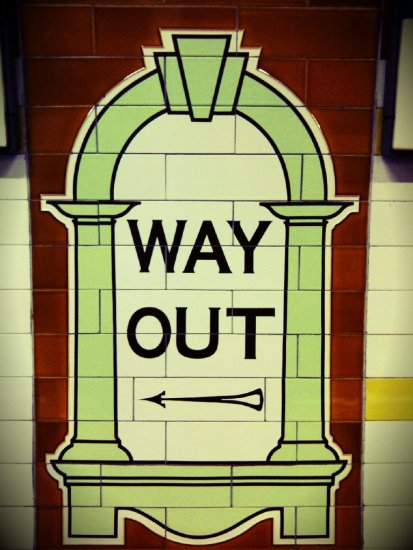 """way out"""